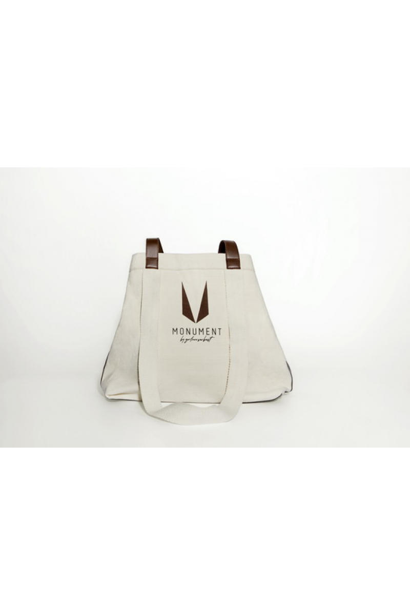 Shopping Bag with Brown Handles