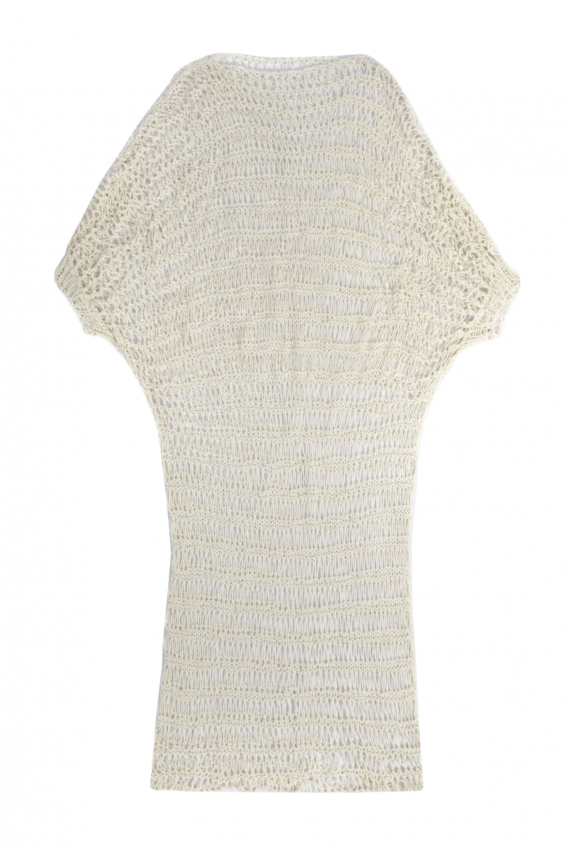 chora Hand-Knitted white dress