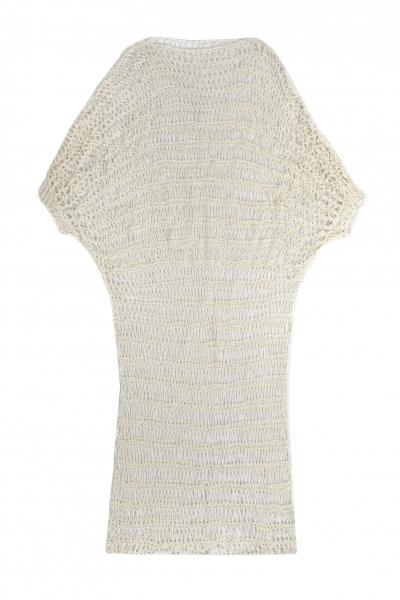 chora Hand-Knitted white dress chora Hand-Knitted white dress