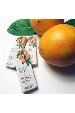 Portakal Temalı Doğal Taş Magnet