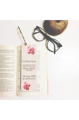 Kiraz Çiçekli Kitap Ayracı Davetiye