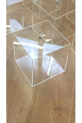 Makyajj Kutusu Kristal Kulplu Kapaklı Kutu