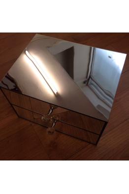 Makyajj Kutusu 2 Çekmeceli Tamamı Aynalı Kutu