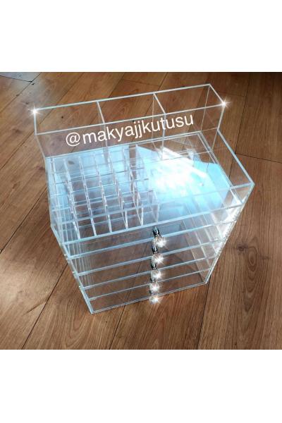 5 Çekmeceli Rujluk+Fırçalıklı Kutı 5 Çekmeceli Rujluk+Fırçalıklı Kutı