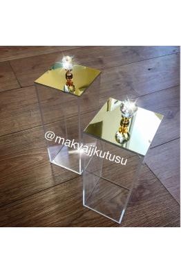 Makyajj Kutusu Üzeri Ayna Kaplı Fırçalık
