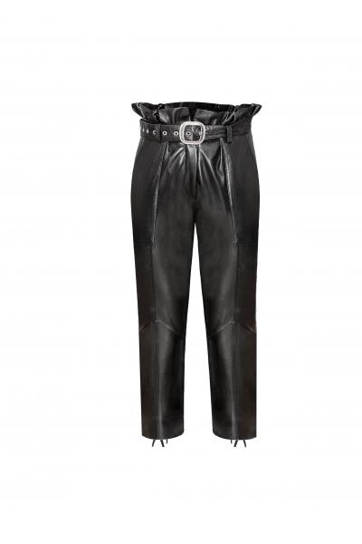 Rone Deri Siyah Pantolon
