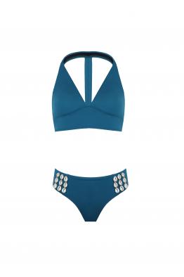 H6 By Hazal Ozman Gina Sky Blue Bikini