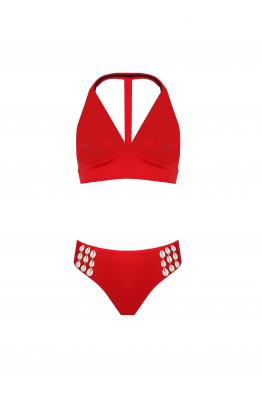 H6 By Hazal Ozman Gina Red Bikini