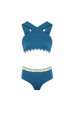 H6 By Hazal Ozman Zoe Sky Blue Bikini