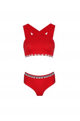H6 By Hazal Ozman Zoe Red Bikini