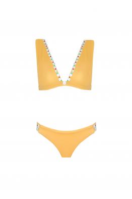 H6 By Hazal Ozman Cloe Gold Bikini