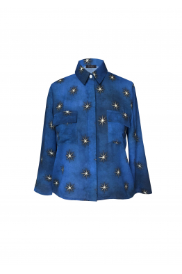 H6 By Hazal Ozman Glamor Mavi Gömlek