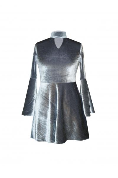 H6 By Hazal Ozman Vera Kadife Elbise