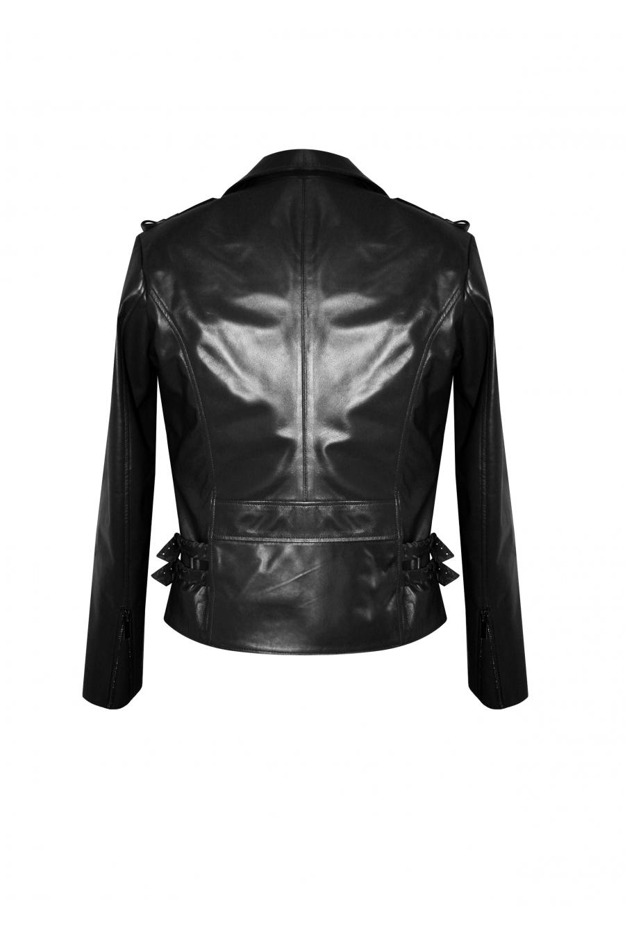 Helza Siyah Deri Ceket