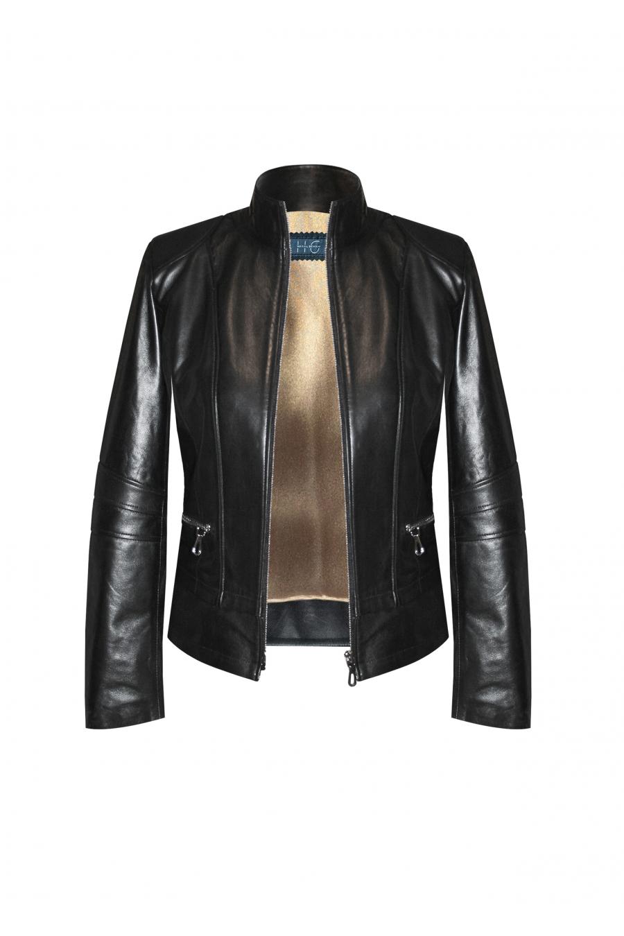 Fonde Siyah Deri Ceket