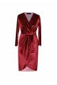 Mate Kırmızı Kadife Elbise