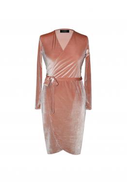 H6 By Hazal Ozman Frapan Kadife Elbise
