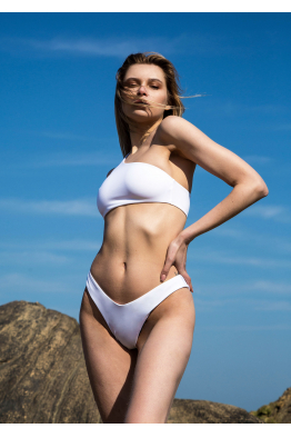 H6 By Hazal Ozman Sola White Bikini