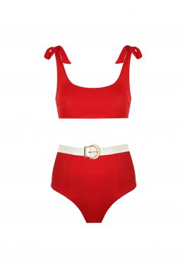 H6 By Hazal Ozman Rachael Red Bikini