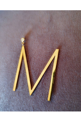 Miss Istanbul Bijoux Letter Earrings
