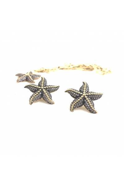 POISON BY KIRAMER Starfish Küpe -Beyaz-