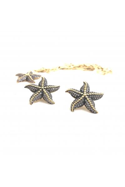 Starfish Küpe -Beyaz- Starfish Küpe -Beyaz-
