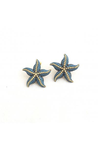 POISON BY KIRAMER Starfish Küpe -Turkuaz-