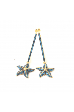POISON BY KIRAMER Starfish Dikdörtgen Küpe