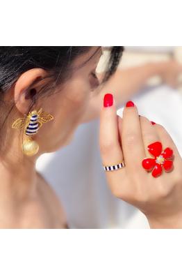 POISON BY KIRAMER Arı Küpe -Küçük  top-