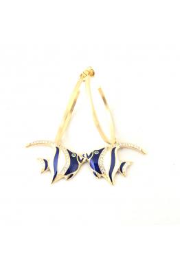 POISON BY KIRAMER Angel Fish Küpe -Gümüş Halka-