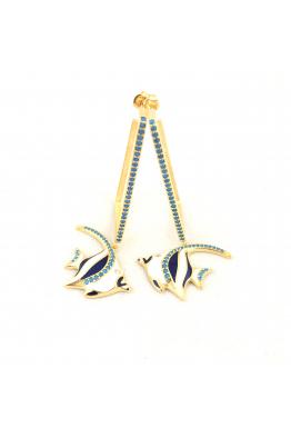 POISON BY KIRAMER Angel Fish Küpe Dikdörtgen Halka