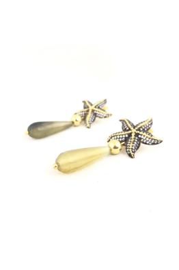 POISON BY KIRAMER Starfish Doğal Taşlı Küpe
