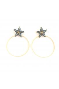 Starfish Halka Küpe