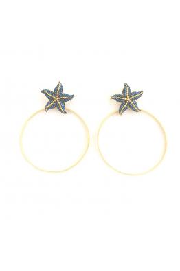 POISON BY KIRAMER Starfish Halka Küpe
