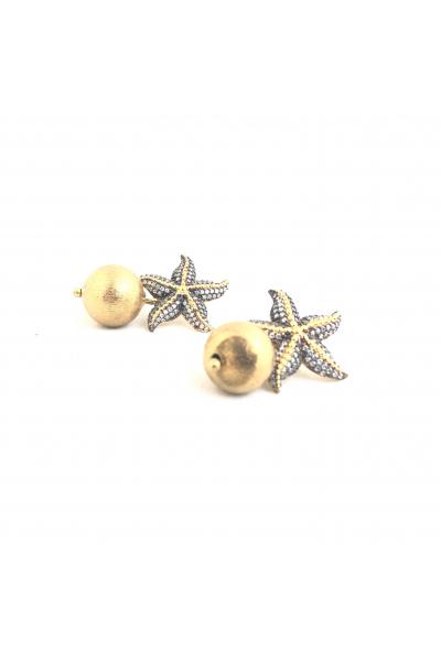 Starfish Toplu Küpe  -Beyaz- Starfish Toplu Küpe  -Beyaz-