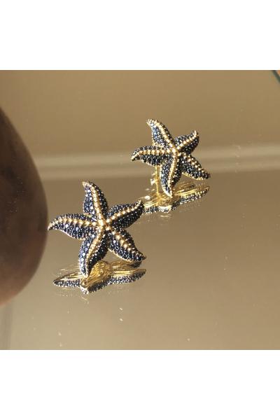 Starfish Küpe -Siyah- Starfish Küpe -Siyah-