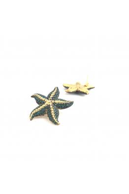 POISON BY KIRAMER Starfish Küpe -Zümrüt-