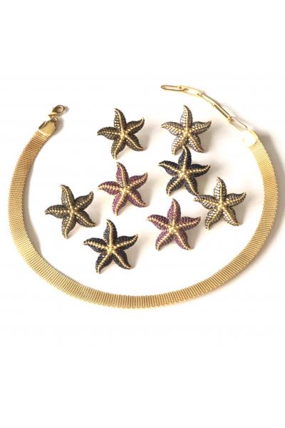 POISON BY KIRAMER Starfish Küpe  -Ametist-
