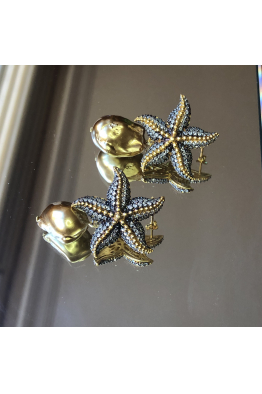 POISON BY KIRAMER Starfish İnci Küpe -Beyaz-