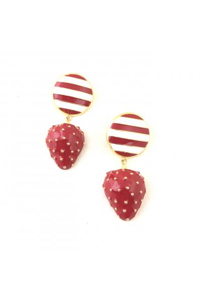 Strawberry Batter Button -Kırmızı- Strawberry Batter Button -Kırmızı-