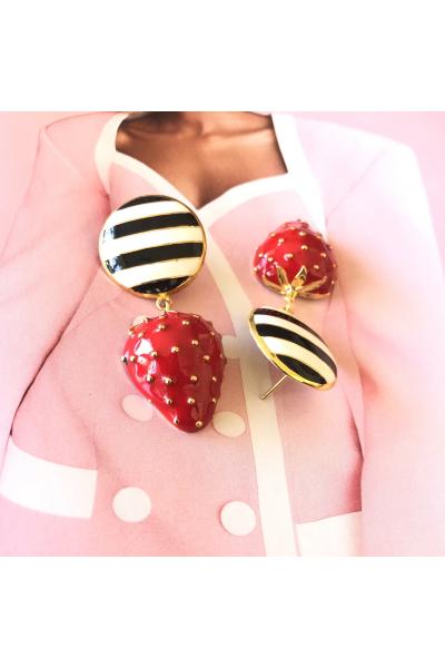 Strawberry Batter Button -Siyah- Strawberry Batter Button -Siyah-