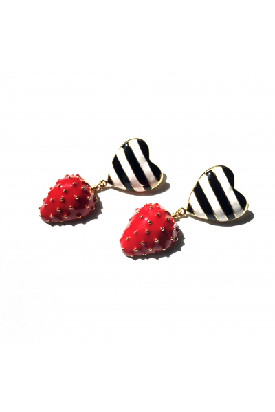 Strawberry Heart Button