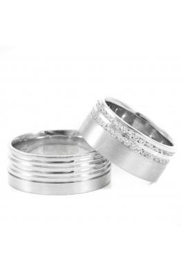 Miss Whitesmith Gümüş Alyans Seti(8)