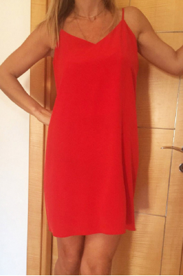 THIN DRESS RED