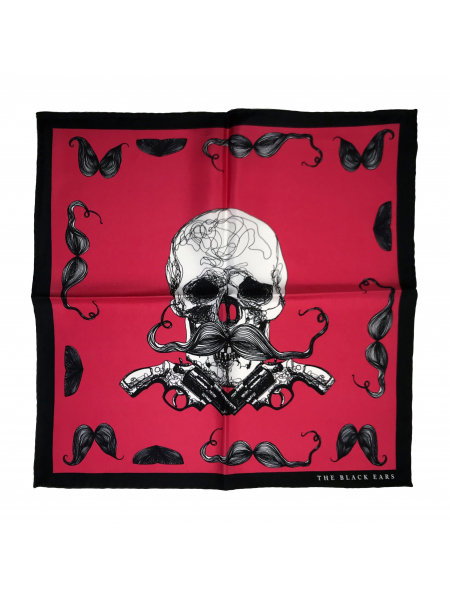 The Skull and Guns Silk Pocket Square