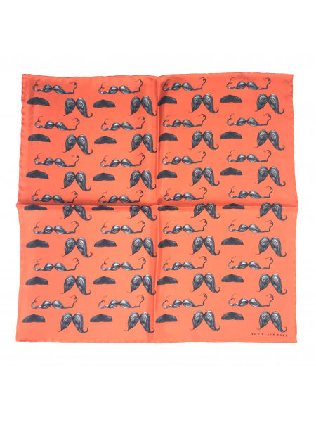 The Moustache Styles Silk Pocket Square