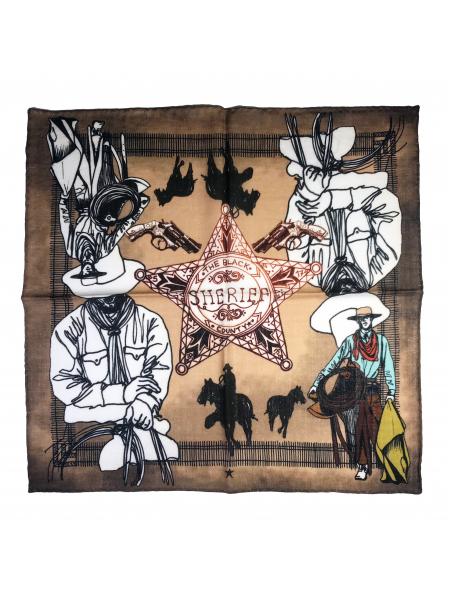 The Western Town Wool Bandana