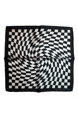 The Black Ears The Finish Point Silk Pocket Square