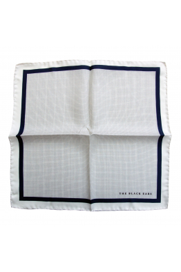 The Black Ears The Classic Style - White Silk Pocket Square