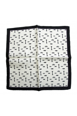 The Black Ears The Gentleman Tools - White Silk Pocket Square